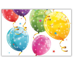 Sparkling Balloons - Plastic Tablecover 120x180cm - 88151