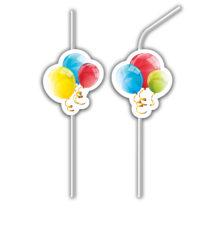 Sparkling Balloons - Medallion Flexi Drinking Straws - 88156