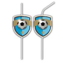 Football - Medallion Flexi Drinking Straws - 88242