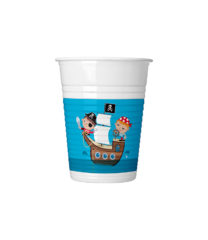 Pirates Treasure Hunt - Drinking Cups 200 ml - 88251