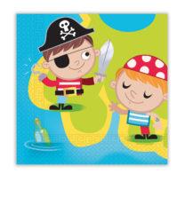 Pirates Treasure Hunt - Two-ply Paper Napkins 33x33 cm - 88252