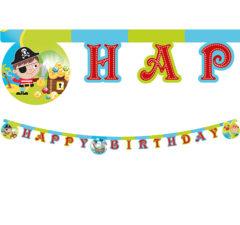 "Pirates Treasure Hunt - ""Happy Birthday"" Die-Cut Letter Banner - 88256"