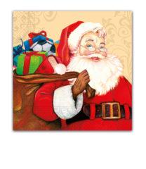 Seasonal Napkin Designs - Happy Santa Three-Ply Paper Napkins 33x33 cm. - 88272