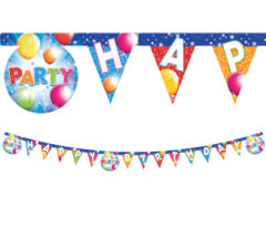 "Party Streamers - ""Happy Birthday"" Die-cut Banner - 88358"