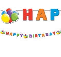 "Flying Balloons - ""Happy Birthday"" Die-cut Banner - 88359"