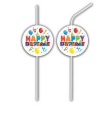 Balloons Fiesta - Medallion Flexi Drinking Straws - 88360