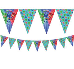 Pj Masks - Triangle Flag Banner (9 Flags) - 88636