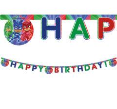 """Pj Masks - """"Happy Birthday"""" Die-cut Banner - 88638"""