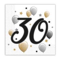 Milestone - Two-ply Paper Napkins 33x33 cm Age 30 - 88866