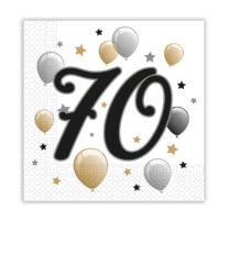 Milestone - Two-ply Paper Napkins 33x33 cm Age 70 - 88870