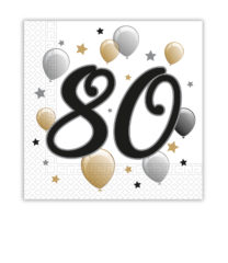 Milestone - Two-ply Paper Napkins 33x33 cm Age 80 - 88871