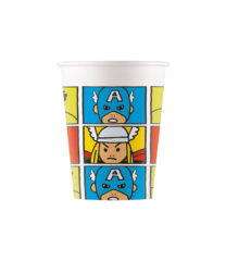 Avengers Pop Comic - Paper Cups 200 ml - 89014