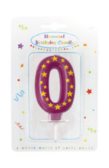 Numeral Candles - Stars Numeral Candles No. 0 - 89163