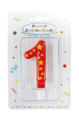 Numeral Candles - Stars Numeral Candles No. 1 - 89164