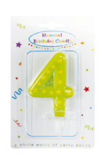 Numeral Candles - Stars Numeral Candles No. 4 - 89167