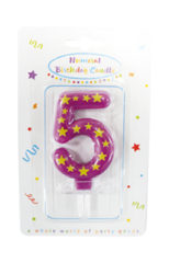 Numeral Candles - Stars Numeral Candles No. 5 - 89168
