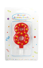 Numeral Candles - Stars Numeral Candles No. 8 - 89171