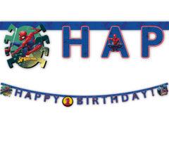 """Spider-Man Team Up - """"Happy Birthday"""" Die-Cut Banner - 89454"""