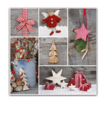 Three-ply Napkins 33 X 33 Cm / Everyday Designs - Wooden Ornaments Three-Ply Napkins 33x33 cm - 89457