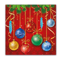 Seasonal Napkin Designs - Sparkling Balls Three-Ply Napkins 33x33 cm - 89460