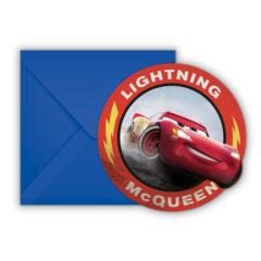 Cars 3 - Die-cut Invitations & Envelopes - 89472