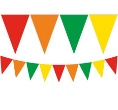 Watermelon - Triangle Flag Banner (9 Flags) - 89504