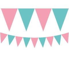 Elegant Mermaid - Triangle Flag Banner (9 Flags) - 89508