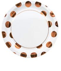 Gold, Rose Gold & Copper - Copper Dots Paper Plates 23 cm - 89542