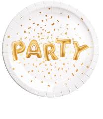 Gold Party - Paper Plates 23 cm - 89637