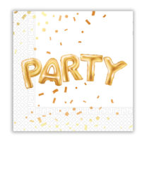 Gold Party - Three - Ply Paper Napkins 33x33 cm - 89640