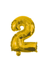 Numeral Foil Balloons - 32 cm Gold Foil Balloon No. 2 - 89643