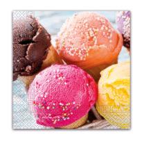 Everyday Napkin Designs - Ice Cream Cones Three-Ply Napkins 33x33cm - 89786