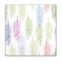 Everyday Napkin Designs - Multicolour Feathers Three-Ply Napkins 33x33 cm - 89792