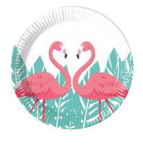 Flamingo - Paper Plates Medium 20 cm - 89971