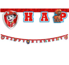 """Paw Patrol Ready for Action - """"Happy Birthday"""" Die-Cut Banner. - 89978"""