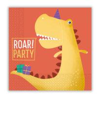 Dino Roar - Two-Ply Paper Napkins 33x33 cm - 90248