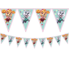 Paw Patrol Skye & Everest - Triangle Flag Banner (9 flags) - 90279