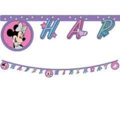 """Minnie Unicorn - """"Happy Birthday"""" Die-Cut Banner - 90342"""