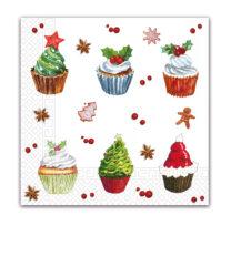 Seasonal Napkin Designs - Christmas Cupcakes - 90436