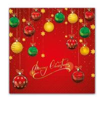 Seasonal Napkin Designs - Festive Wishes Three-Ply Paper Napkins 33x33 cm. - 90441