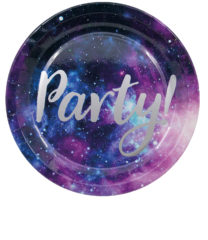 Galaxy Party - Paper Plates 23 cm - 90452