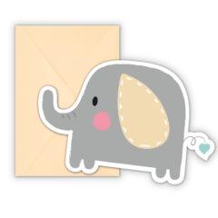Elephant Baby - Die-Cut Invitations & Envelopes - 90497