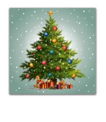 Seasonal Napkin Designs - Bright Colorful Lamps Three-Ply Paper Napkins 33x33 cm. - 90533