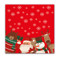 Seasonal Napkin Designs - Christmas Gifts Three-Ply Paper Napkins 33x33 cm. - 90535