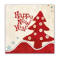 Seasonal Napkin Designs - North Pole Snowman Three-Ply Paper Napkins 33x33 cm. - 90536
