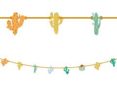 Cacti - Paper Die-Cut Banner (8 Flags) - 90555