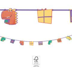 Dino Roar - Paper Die-Cut Banner (8 flags) FSC - 90566