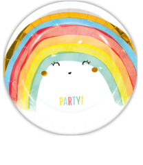 Rainbow Party - Paper Plates Metallic Large 23cm - 90590