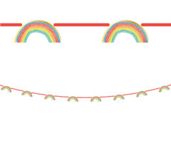 Rainbow Party - Paper Die-Cut Banner Metallic - 90593