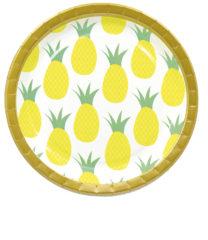 Pineapple Fresh - Paper Plates Large 23 cm - 90596